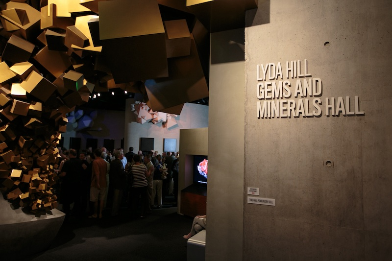 Entry to the Lyda Hill Gems and Minerals Hall at the Perot Museum of Nature and Science. Don Mamone Photo