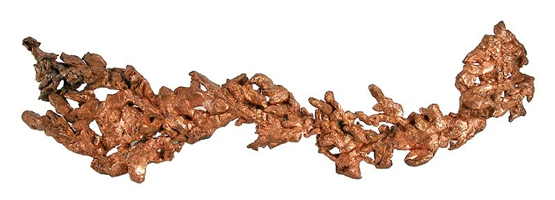 Copper fine mineral specimen from Keweenaw County, Michigan. Ex Richard Hauck Collection