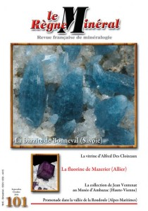 Cover from Le Regne Mineral, a French periodical about minerals.