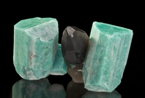 Amazonite and Smoky Quartz is from the Smoky Hawk Mine in Colorado