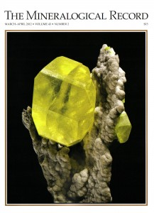 Cover - The Mineralogical Record, Jan/Feb 2012, Volume 43, Number 1