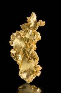 Natural Crystallized Gold from Round Mountain, Nevada. Photo by Joe Budd, courtesy of The Arkenstone, www.iRocks.com