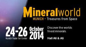 Munich Show - MineralWorld, Oct 24-26, 2014