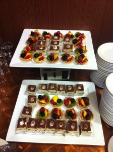 Delicious snacks at our San Francisco Mineral Road Show