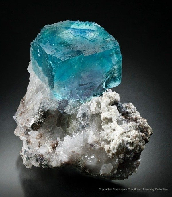 From Yaogangxian Mine in Hunan, China, this fine mineral specimen is one of the finest fluorites known.