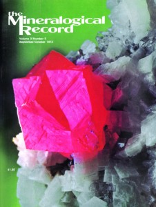 Cover of The Mineralogical Record, Sept-Oct 1972