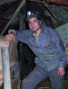 A photo of The Arkenstone's China Gallery manager Chen Xiaojun at the Huanggang mine