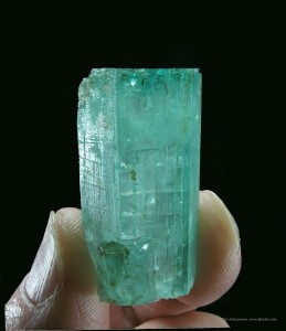 A miniature emerald fine mineral specimen is a great example of small minerals with exceptional beauty.