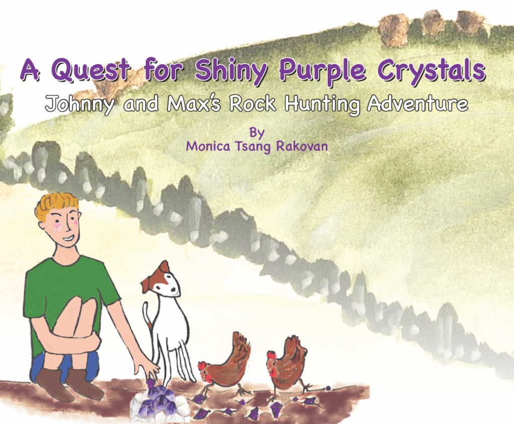 Shiny Purple Crystals is an engaging children's story about collecting crystals and rocks!