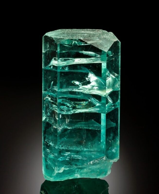 It is a miracle that this giant aquamarine from Brazil remains intact.