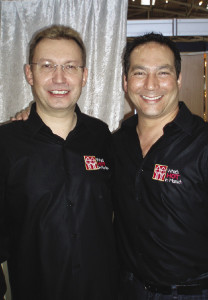 Bryan Swoboda of BlueCap Productions and Gerhard Wagner co-host the What's Hot in Munich DVD series.