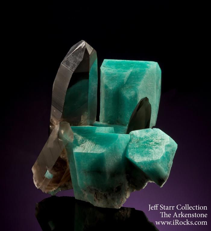 Amazonite and smoky quartz are often found together in Colorado