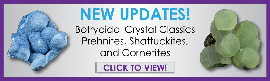 Botryoidal crystals for sale, shattuckite, prehnite, cornetite