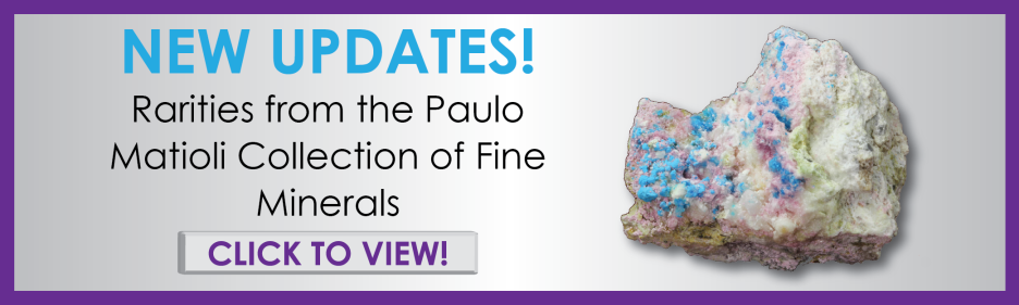 Rare crystals and fine minerals for sale from famous mineral collector Paulo Matioli