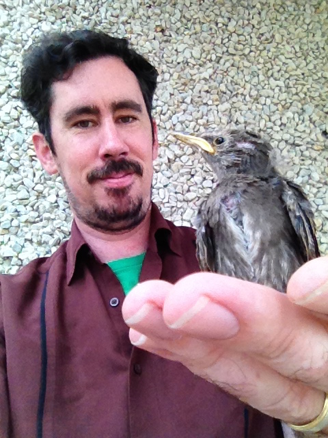 Mineral Photographer Joe Budd to the rescue to save a baby bird!