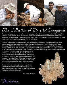 An introduction of Dr. Art Soregaroli's Fine Mineral Collection