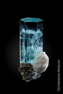 Exceptional fine minerals like this aquamarine are highly desirable for mineral collectors.