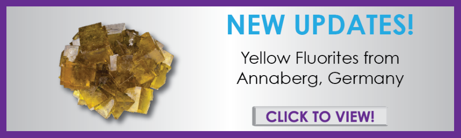 Fluorites from historic Annaberg, Germany are now for sale on iRocks.com - buy fine minerals, crystals, gems, and more!