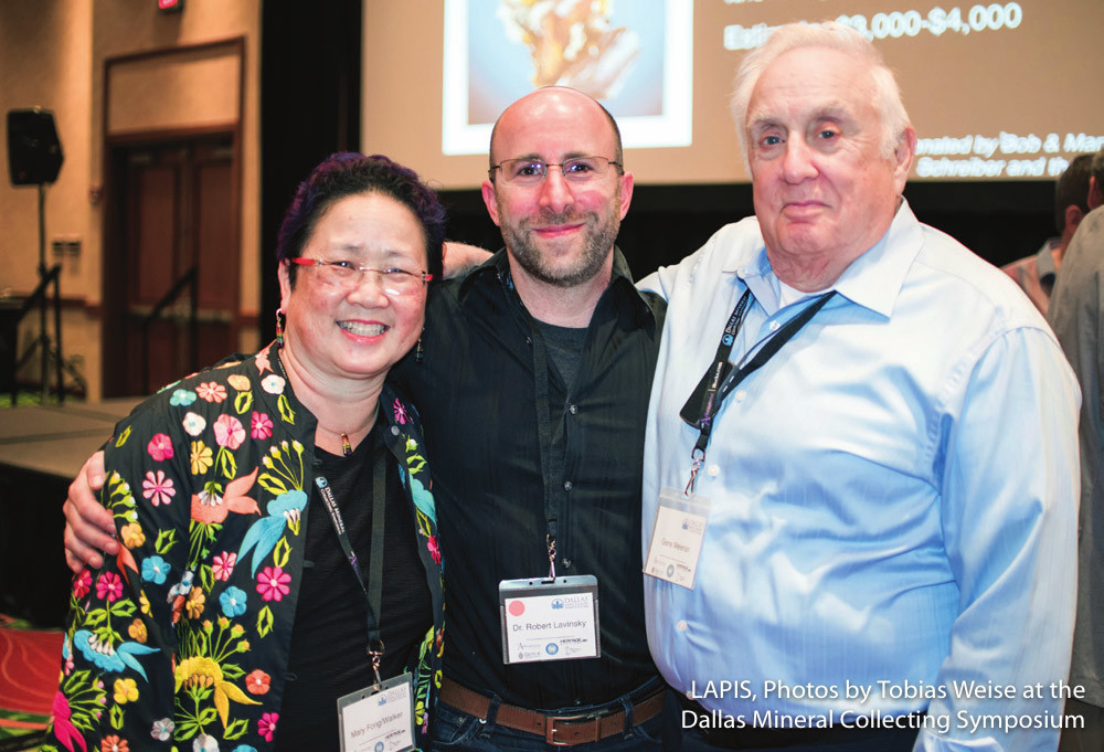 Mary Fong-Walker, Dr. Robert Lavinsky, and Dr. Gene Meieran at the 2015 Dallas Symposium auction and banquet