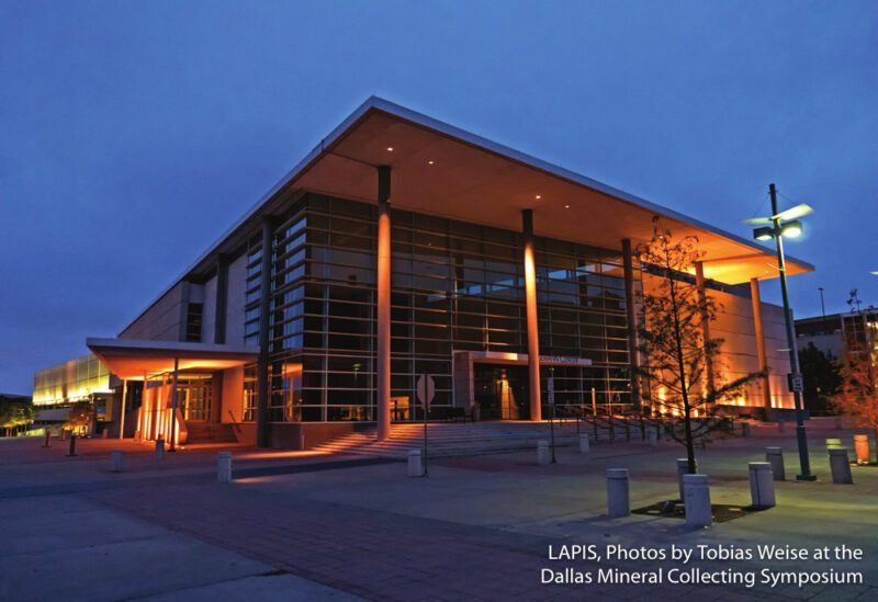 The Eisemann Center in Richardson is home to the Dallas Mineral Collecting Symposium