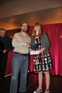 Dr. Robert Lavinsky and Lauren Megaw at the annual Tucson Award Ceremony