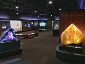 Entrance to the Yale Peabody Museum's David Friend Mineral Museum. Photo courtesy of Bryan Swoboda, BlueCap Productions.