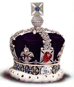 Black Prince's Ruby is actually a spinel that is currently a part of the British Imperial State Crown.
