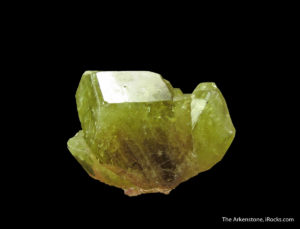 A developing sixling twin of chrysoberyl from Brazil