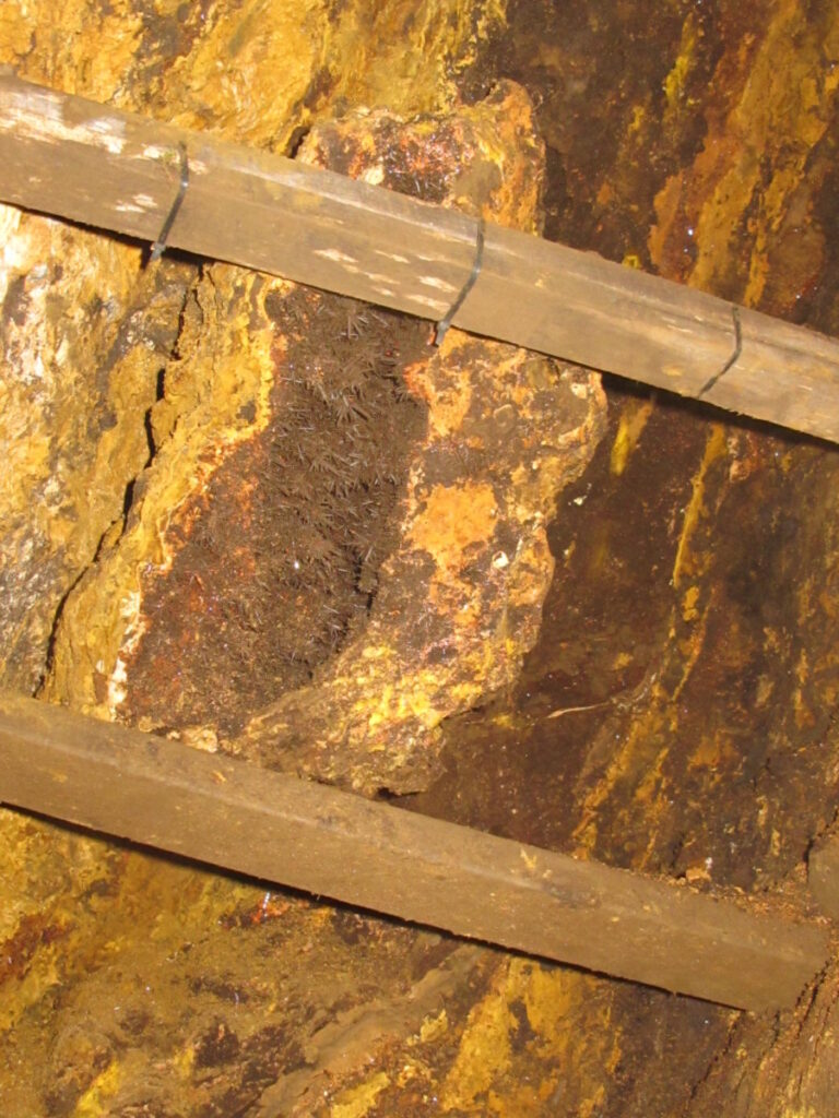 Difficult underground mining conditions make mineral collecting a tough task.