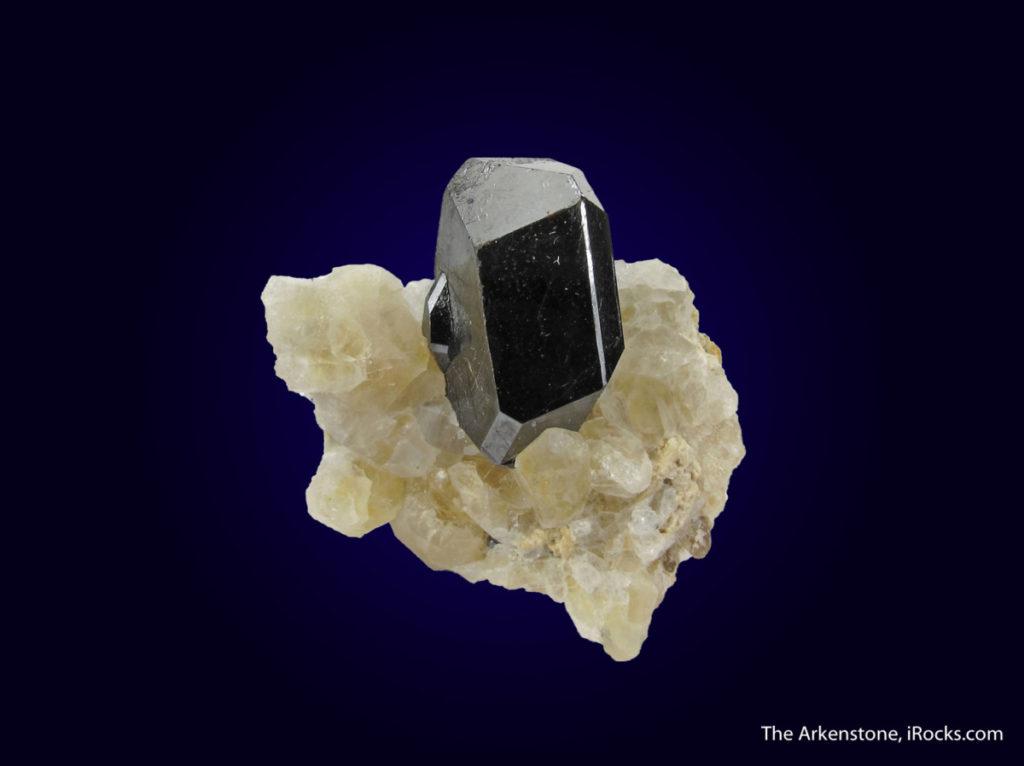 Rutile on quartz from Azerbaijan.