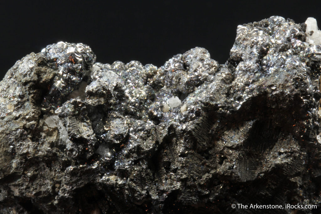 This rare grey rammelsbergite crystal was found in Russia.