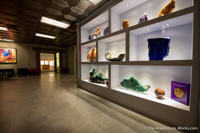 Lobby at The Arkenstone Gallery of Fine Minerals