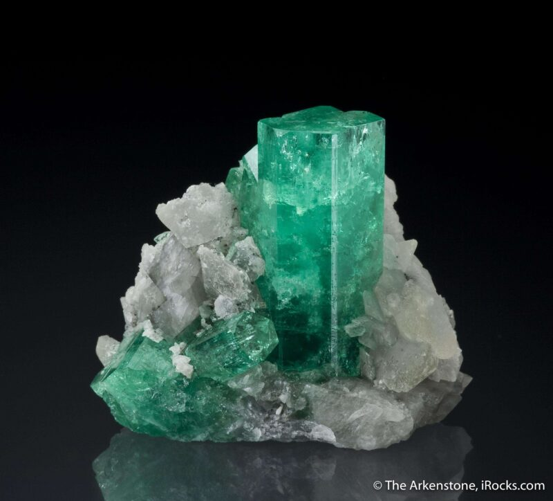 colombia emerald matrix specimen beryl