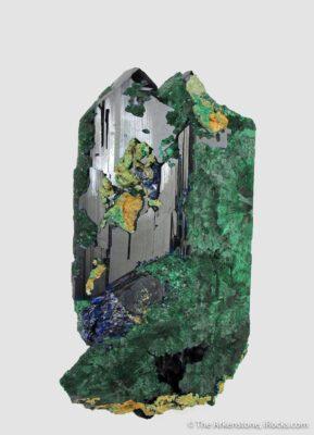 pseudomorph azurite malachite mineral thumb