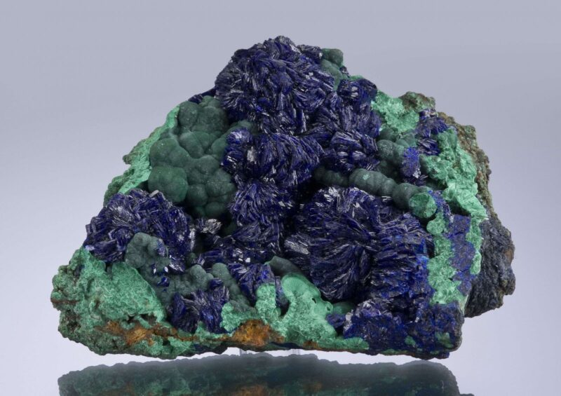 Azurite and Malachite, copper-based minerals
