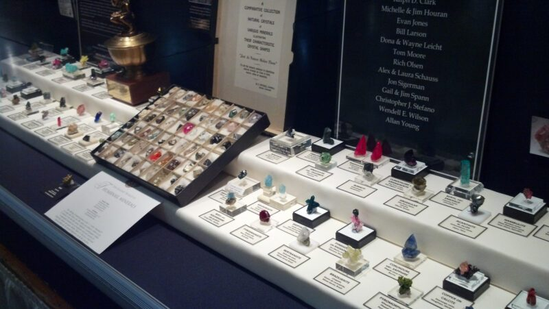 thumbnail exhibit at the tucson gem and mineral show