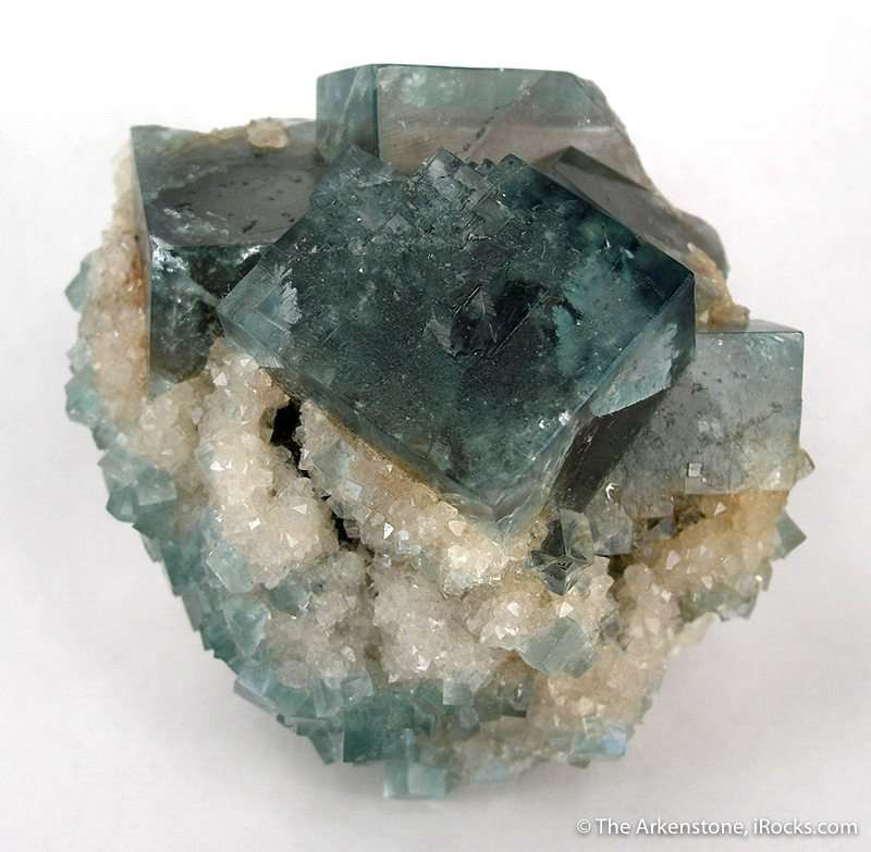 I really fond old fluorite venerated Heights Mine crystals appear
