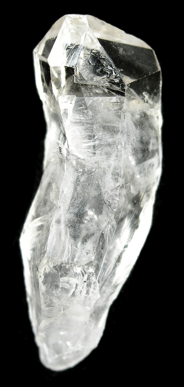 A unusually grown quartz crystal showing twisted growth strange