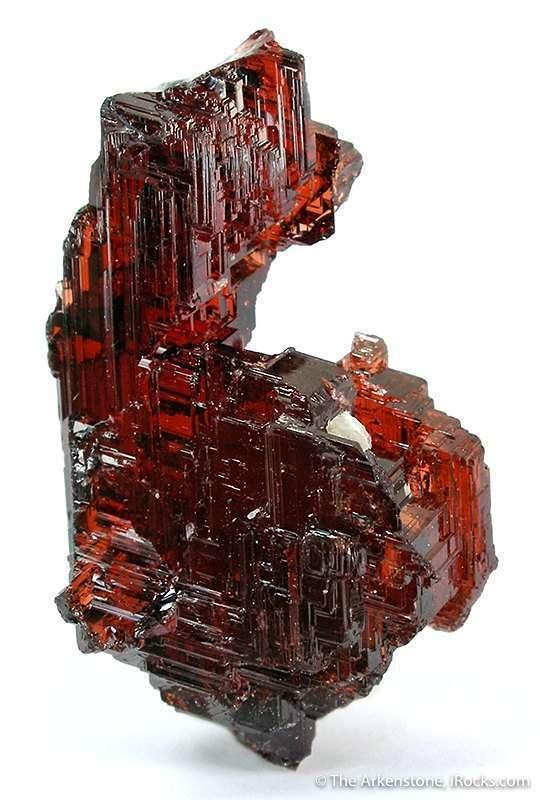 This glassy gemmy spessartine superb reddish orange color near total