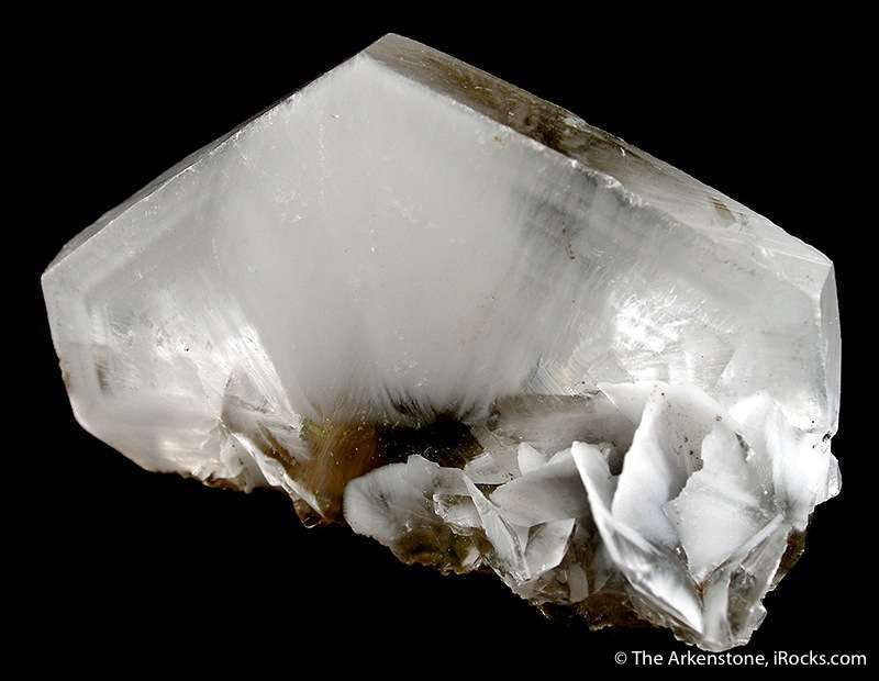 This specimen features nearly pristine large calcite crystal 7 3 cm