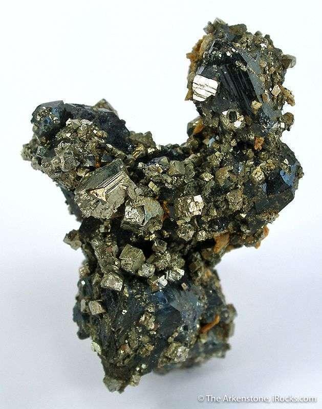 Sharp lustrous scorodite crystals 1 cm sprinkled liberally starkly