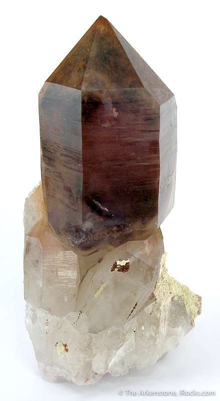 Framed smaller crystals magnificent 11 8 cm tall sceptered quartz