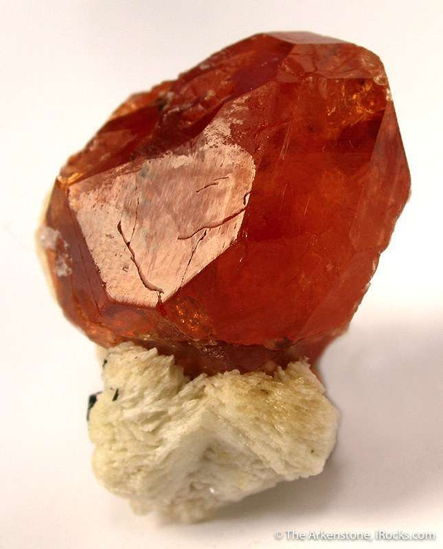 This stunning unusually large crystal spessartine locality