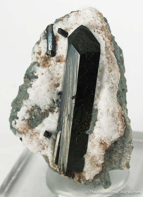 A choice miniature sharp robust lustrous textbook crystal neptunite