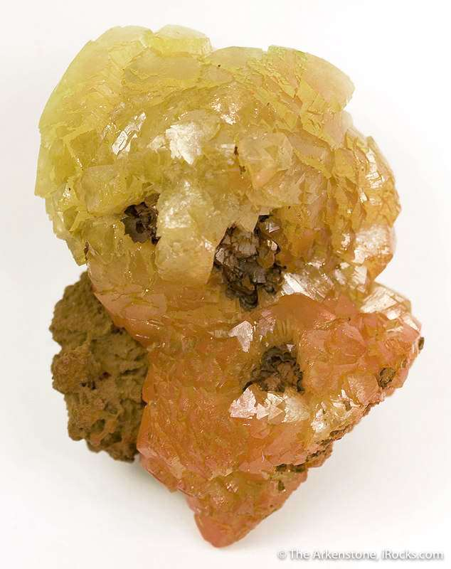 This matrix specimen composed rounded aggregates translucent crystals