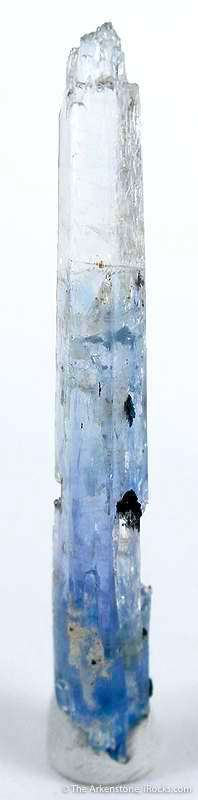A giant 4 4 cm crystal stunning blue depths core contrasting clear tip