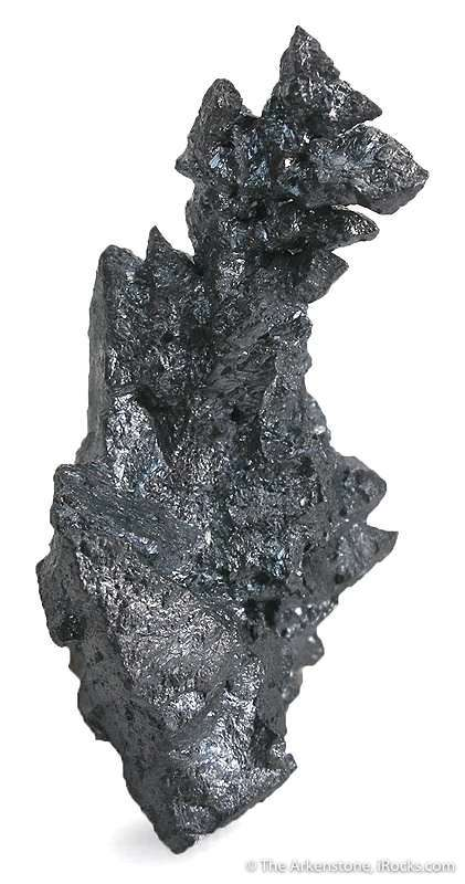 This specimen octahedral splendent jet black acanthite argentite