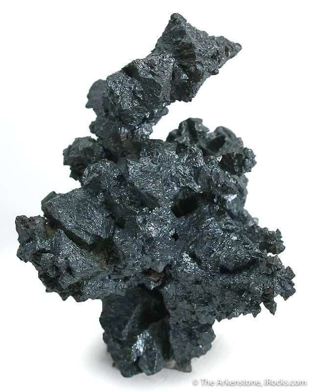 This specimen acanthite argentite features series stacked octahedral