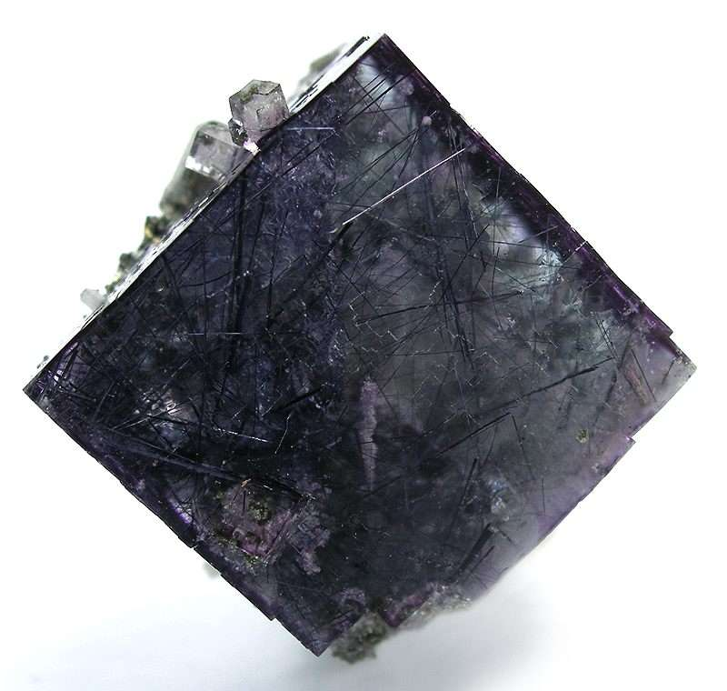 This rare combination deep purple fluorite perfect complete mind