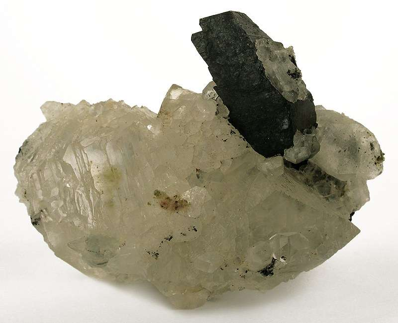 Lustrous translucent colorless crystals calcite 3 cm form agglomerated